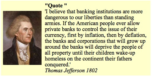 Thomas Jefferson Quote for the Fed